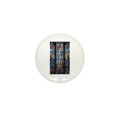 Jesus' Crucifixion Stained Glass Mini Button (10 p