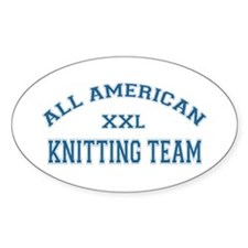 AA Knitting Team Oval Decal