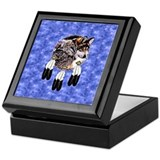 Wolf keepsake box Square Keepsake Boxes