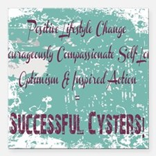 "Successful Cyster Square Car Magnet 3"" x 3"""