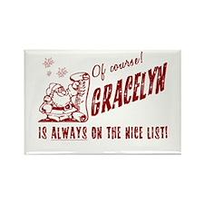 Nice List Gracelyn Christmas Rectangle Magnet