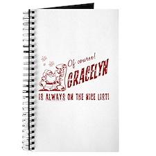 Nice List Gracelyn Christmas Journal