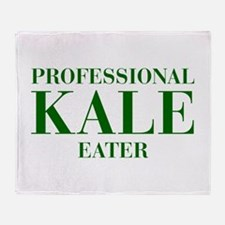 professional-kale-eater-bod-green Throw Blanket