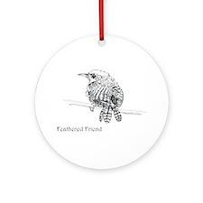 Feathered Friend - Wren Ornament (Round)