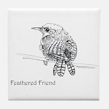 Feathered Friend Wren Tile Coaster