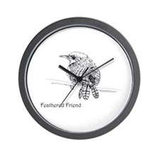 Feathered Friend - Wren Wall Clock