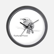 Feathered Friend Wren Wall Clock