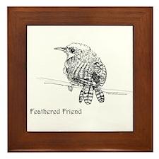 Feathered Friend - Wren Framed Tile