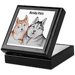 R&W, B&W Husky Pals Keepsake Box