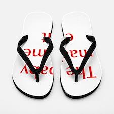 baby-made-me-opt-red Flip Flops