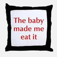 baby-made-me-opt-red Throw Pillow