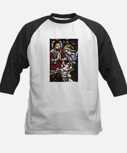 Holy Family Stained Glass Kids Baseball Jersey
