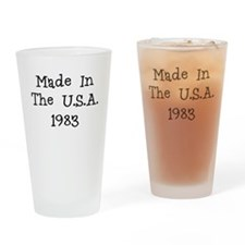 Made in the usa 1983 Drinking Glass
