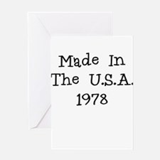 Made in the usa 1978 Greeting Card