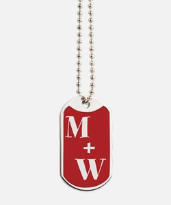 Monogram Plus Monogram Dog Tags