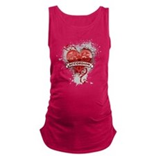 Heart Accordion Maternity Tank Top