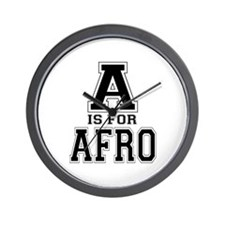 A is for Afro Wall Clock