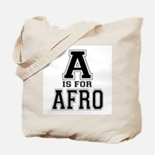 A is for Afro Tote Bag