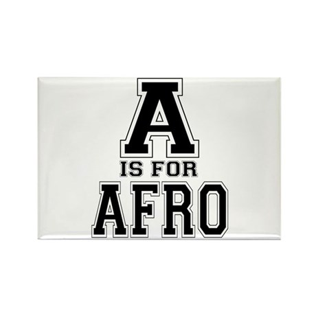 A is for Afro Rectangle Magnet