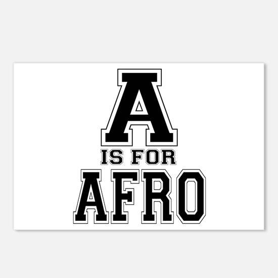A is for Afro Postcards (Package of 8)