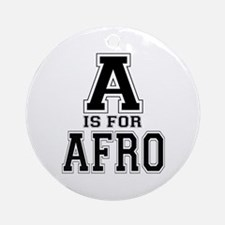 A is for Afro Ornament (Round)