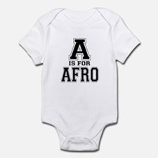 A is for Afro Infant Bodysuit