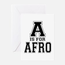 A is for Afro Greeting Cards (Pk of 10)