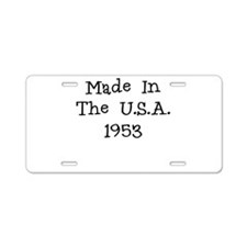 Made in the usa 1953 Aluminum License Plate