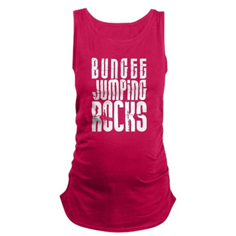 Bungee Jumping Rocks Maternity Tank Top