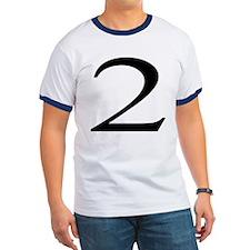 Number 2 ringer T-Shirt
