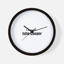 I boned Julie Cooper Wall Clock