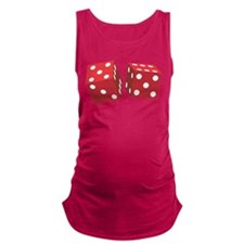 Retro Red Dice Maternity Tank Top