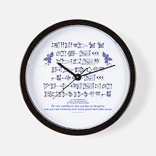 Affairs of Dragons (Sumerian) Wall Clock