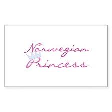 Norwegian Princess Rectangle Decal