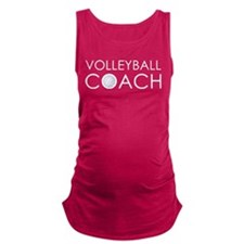 Volleyball Coach Maternity Tank Top