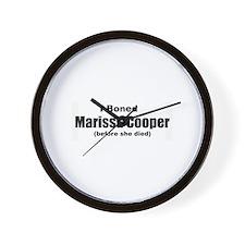 I boned Marissa Cooper Wall Clock