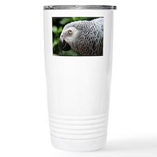 African Grey Parrot Travel Coffee Mug