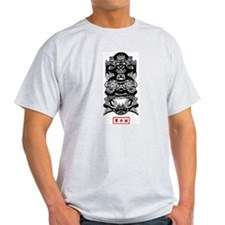 Chinese Mask Ash Grey T-Shirt