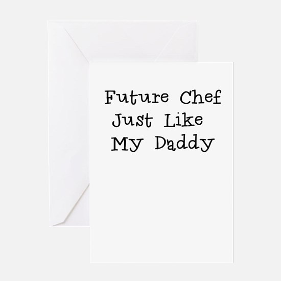 Future Chef Like Daddy Greeting Card