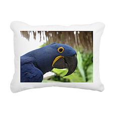 Hyacinth Macaw Rectangular Canvas Pillow