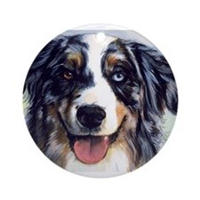 Unique Australian shepherd Ornament (Round)