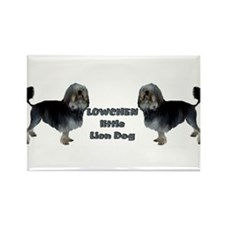 Little Lion dog Rectangle Magnet