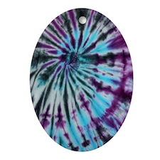 Tie Dye Design Oval Ornament