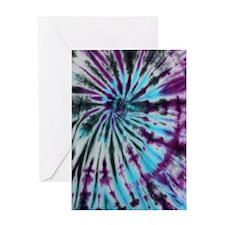 Tie Dye Design Greeting Card
