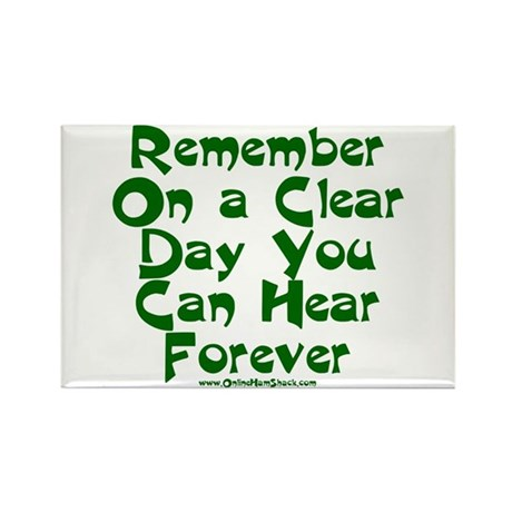 Remember On a Clear Day You C Rectangle Magnet