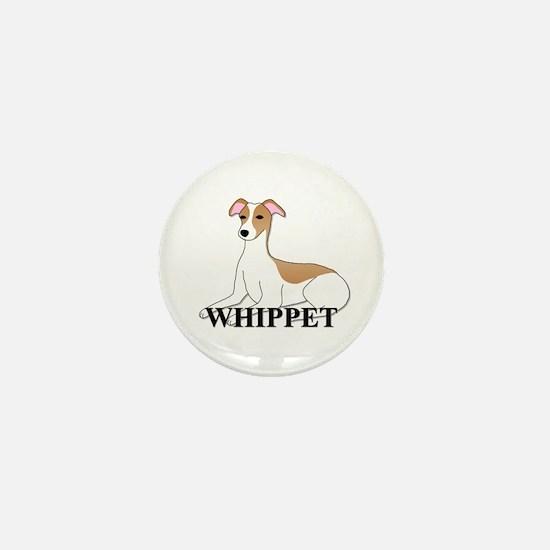 Cartoon Whippet Mini Button