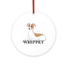 Cartoon Whippet Ornament (Round)