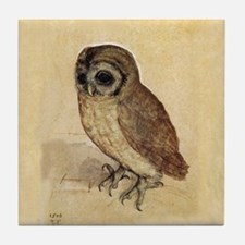 Owl by Durer Tile Coaster