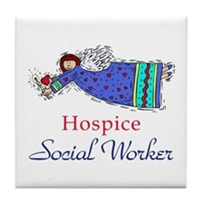 Hospice SW Angel Tile Coaster