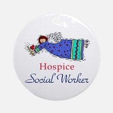 Hospice SW Angel Ornament (Round)